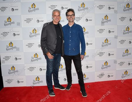 """Stock Photo of Chef Eric Ripert, left, and director Michael Steed attend the """"Fries! The Movie"""""""" premiere during the 20th Tribeca Festival at Brookfield Place, in New York"""