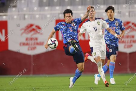 Naomichi Ueda (JPN) - Football / Soccer :  KIRIN Challenge Cup 2021 match  between Japan 1-0 Serbia  at Noevier Stadium Kobe, Hyogo, Japan.
