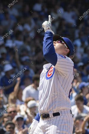 Chicago Cubs Joc Pederson (24) celebrates his solo home run against the St. Louis Cardinals during the 4th inning of play at Wrigley Field on Friday, June 11, 2021. The Chicago Cubs were able to host fans at 100% capacity in Wrigley Field for the first time since September 22, 2019, which was also against the Cardinals.