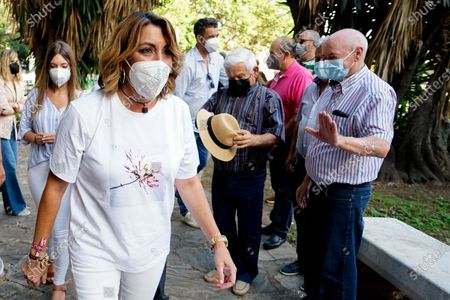 Candidate to General Secretary of PSOE Andalucia Party, Susana Diaz seen during a meeting at Jardines de Picasso in Malaga.