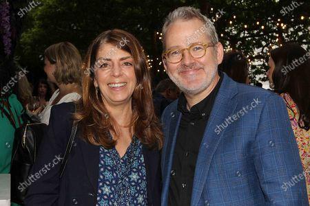 Stock Photo of Nancy Abraham (EVP HBO Documentary) and Morgan Neville