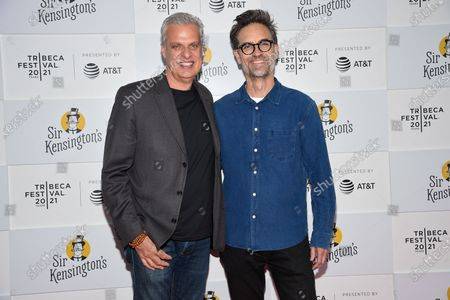 """Stock Picture of Chef Eric Ripert, left, and director Michael Steed attend the """"Fries! The Movie"""" premiere during the 20th Tribeca Festival at Brookfield Place, in New York"""