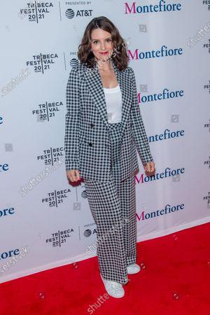 Actress Tina Fey attends the 2021 Tribeca Festival Tribeca TV Panel: Tina Fey & Co. at Spring Studios.