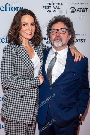 Actress Tina Fey and composer Jeff Richmond attend the 2021 Tribeca Festival Tribeca TV Panel: Tina Fey & Co. at Spring Studios.