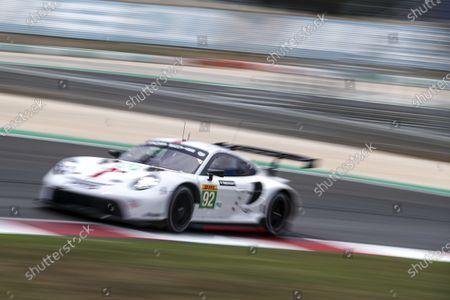ALGARVE INTERNATIONAL CIRCUIT, PORTUGAL - JUNE 12: #92 Porsche GT Team Porsche 911 RSR - 19: Kevin Estre, Neel Jani, Michael Christensen at Algarve International Circuit on Saturday June 12, 2021 in Portimao, Portugal. (Photo by LAT Images)