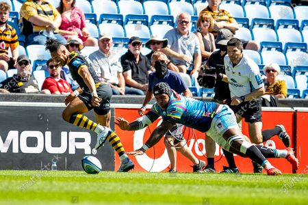 Marcus Watson of Wasps Rugby during the Gallagher Premiership Rugby match between Wasps and Leicester Tigers at the Ricoh Arena, Coventry