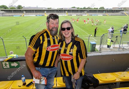 Clare vs Kilkenny. Kilkenny fans John Connolly and Patty Haugh delighted to back at GAA games this weekend