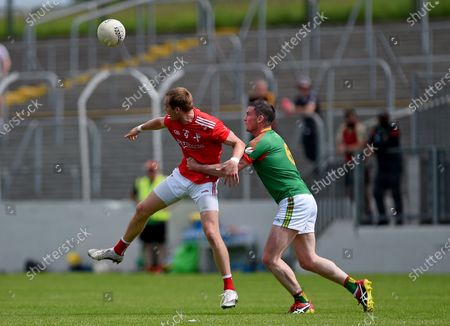 Carlow vs Louth. Louth's Ciarán Byrne with John Murphy of Carlow