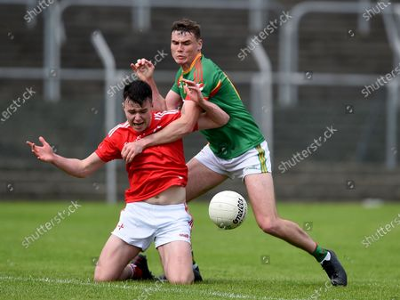 Carlow vs Louth. Louth's Liam Jackson with Jordan Morrissey of Carlow