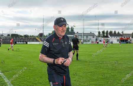 Carlow vs Louth. Louth manager Mickey Harte at the final whistle