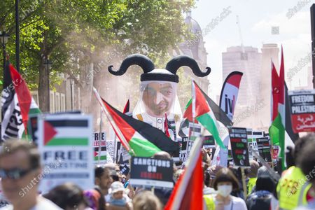 Justice for Palestine protest, London