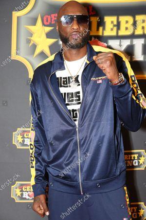 Editorial photo of Celebrity Boxing: Lamar Odom v. Aaron Carter, Fight, Atlantic City, New Jersey, USA - 11 Jun 2021