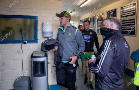 Donegal vs Dublin. Donegal's Michael Murphy arrives in Breffni Park