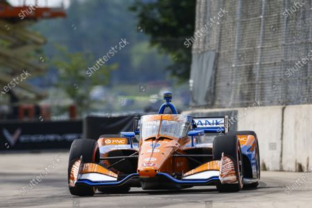 Stock Photo of THE RACEWAY ON BELLE ISLE, UNITED STATES OF AMERICA - JUNE 12: #9: Scott Dixon, Chip Ganassi Racing Honda at The Raceway on Belle Isle on Saturday June 12, 2021 in Detroit, United States of America. (Photo by Jake Galstad / LAT Images)