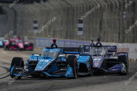 Stock Image of THE RACEWAY ON BELLE ISLE, UNITED STATES OF AMERICA - JUNE 12: #59: Max Chilton, Carlin Chevrolet at The Raceway on Belle Isle on Saturday June 12, 2021 in Detroit, United States of America. (Photo by Jake Galstad / LAT Images)