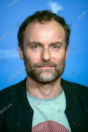 """German actor Mark Waschke poses ahead of the screening of the film """"Human Factors"""" (Der Menschliche Faktor) in the """"Panorama"""" section as part of the """"Berlinale Summer Special"""" film festival at the open air cinema (Freiluftkino) in the Kreuzberg district of Berlin, Germany, . Due to the Coronavirus pandemic, the Berlinale Summer Special will be a purely outdoor event with mandatory testing for all spectators, taking place from June 9 to 20 at 16 outdoor venues"""