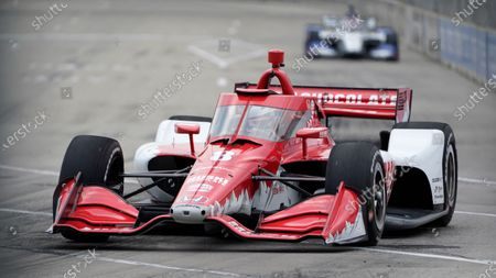 Marcus Ericsson, of Sweden, races during the first race of the IndyCar Detroit Grand Prix auto racing doubleheader on Belle Isle in Detroit, . Ericsson won the race