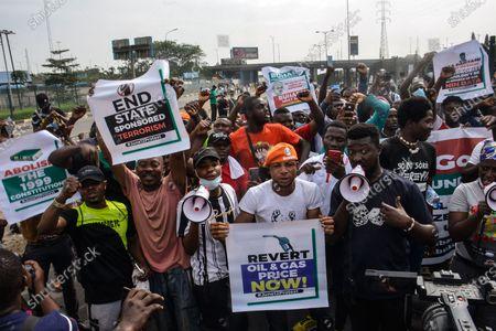 Editorial photo of Protest In Nigeria, Lagos - 12 Jun 2021
