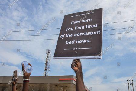 Editorial image of Protest In Nigeria, Lagos - 12 Jun 2021