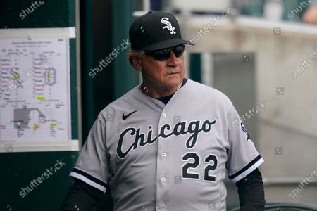 Stock Image of Chicago White Sox manager Tony La Russa walks in the dugout during the fourth inning of a baseball game against the Detroit Tigers, in Detroit