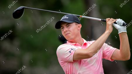 Matt Fitzpatrick, of England, watches his drive off the first tee during the third round of the Palmetto Championship golf tournament in Ridgeland, S.C