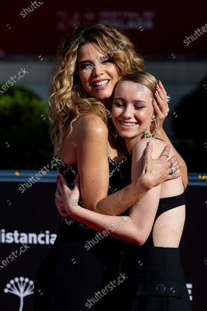 Stock Picture of Juana Acosta (L) and Spanish actress Maria Romanillos attend the 24th edition of the Malaga Film Festival in Malaga, Spain, 12 June 2021 (issued 13 June 2021).
