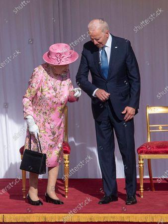 Queen Elizabeth II meets US President Joe Biden and First Lady Jill Biden, Windsor Castle