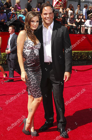 Stock Photo of Mike Piazza and wife Alicia Rickter