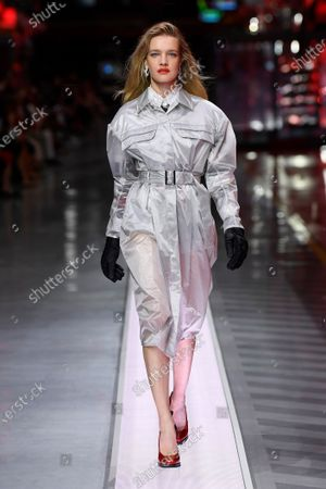 Stock Image of Natalia Vodianova on the catwalk