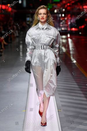 Stock Picture of Natalia Vodianova on the catwalk