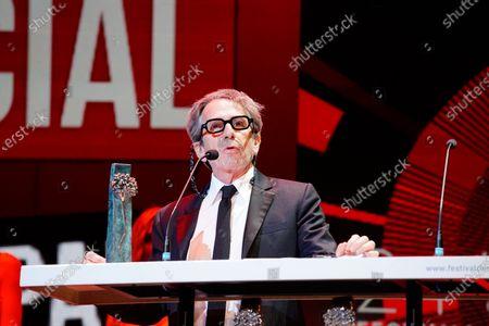 Actor Alfredo Castro seen during the Closing Gala of Festival de Malaga 2021 at Teatro Cervantes. 'El Ventre del Mar', a film directed by Agusti Villaronga, have been the most awarded film during Festival de Malaga 2021.