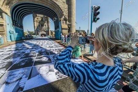 Editorial photo of Sadiq Khan visits - JR: Inside Out on Tower Bridge., Tower Bridge, London, UK - 13 Jun 2021