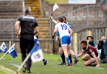 Monaghan vs Galway. Monaghan's Darren Hughes is fouled by Paul Conroy of Galway