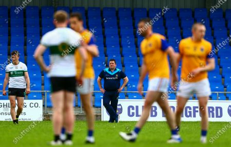 Longford vs Tipperary. Tipperary manager David Power dejected at the end of the game