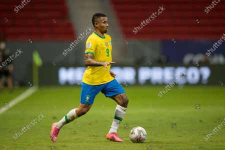 Gabriel Jesus of Brazil; Mane Garrincha Stadium, Brasilia, Distrito Federal, Brazil; Copa America, Brazil versus Venezuela.