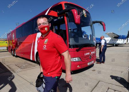 Lions player Ken Owens arrives in Jersey