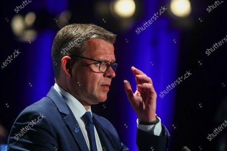 Leader of the National Coalition Party Petteri Orpo during the Finnish municipal election day in Helsinki, Finland, 13 June 2021.