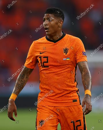 Patrick van Aanholt of the Netherlands reacts during the UEFA EURO 2020 preliminary round group C match between the Netherlands and Ukraine in Amsterdam, the Netherlands, 13 June 2021.