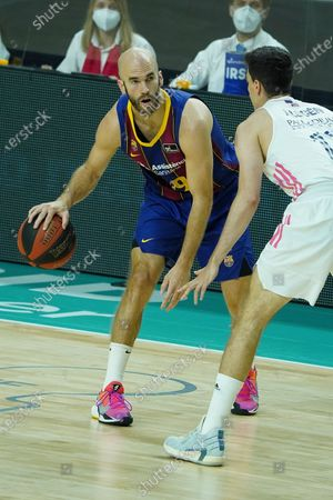 NICK CALATHES of FC Barcelona  during the Liga ACB Final First Leg match between Real Madrid and FC Barcelona at Wizink Center on June 13, 2021 in Madrid, Spain.