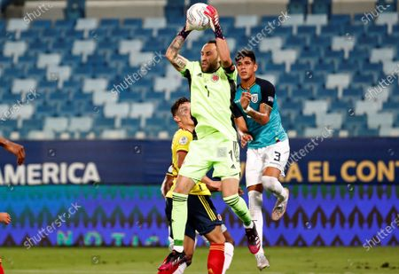 Stock Image of Colombia's goalkeeper David Ospina in action against Ecuador, during the Copa America group A preliminary round soccer match between Colombia and Ecuador at Arena Pantanal stadium in Cuiaba, Brazil, 13 June 2021.