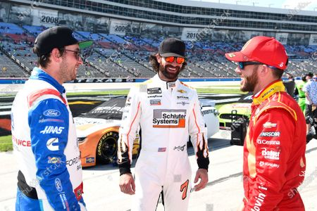 Stock Photo of TEXAS MOTOR SPEEDWAY, UNITED STATES OF AMERICA - JUNE 13: #14: Chase Briscoe, Stewart-Haas Racing, Ford Mustang Ford Performance Racing School, #7: Corey LaJoie, Spire Motorsports, Chevrolet Camaro Schluter Systems, #42: Ross Chastain, Chip Ganassi Racing, Chevrolet Camaro McDonald's at Texas Motor Speedway on Sunday June 13, 2021 in Forth Worth, United States of America. (Photo by John K Harrelson / NKP  / LAT Images)