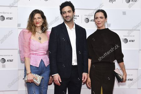 """Maya Singer, Morgan Spector and Rebecca Hall attend the premiere of """"With/In"""" during the 20th Tribeca Festival at Brookfield Place, in New York"""