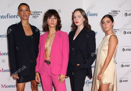 Stock Image of Dilone, Lauren Hadaway, director, Amy Forsyth and Isabelle Fuhrman