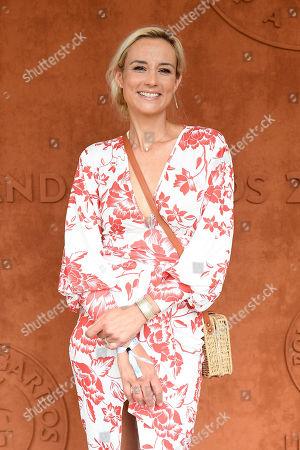 Elodie Gossuin at the VIP village