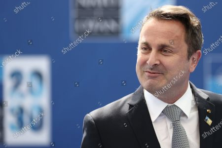 Prime Minister of Luxembourg Xavier Bettel arrives to attend a NATO summit at the North Atlantic Treaty Organization (NATO) headquarters in Brussels, Belgium, 14 June 2021. The 30-nation alliance hopes to reaffirm its unity and discuss increasingly tense relations with China and Russia, as the organization pulls its troops out after 18 years in Afghanistan.