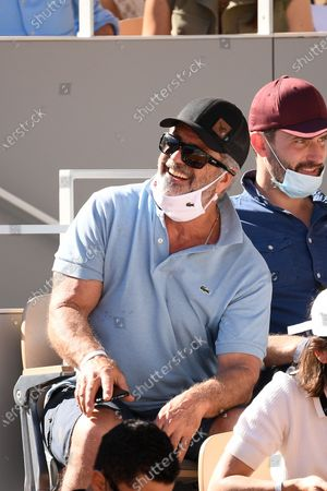 Stock Picture of Mel Gibson during the final match of the French Open tennis tournament at the Roland Garros stadium