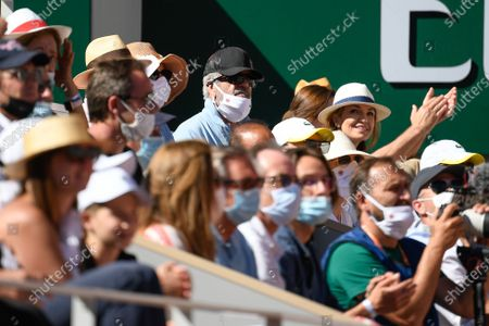 Mel Gibson during the final match of the French Open tennis tournament at the Roland Garros stadium