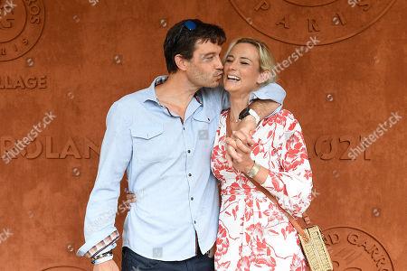 Stock Photo of Elodie Gossuin and her husband Bertrand Lacherie