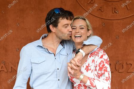 Stock Image of Elodie Gossuin and her husband Bertrand Lacherie