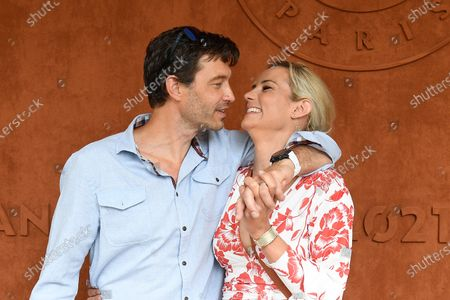 Stock Picture of Elodie Gossuin and her husband Bertrand Lacherie